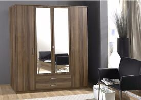 **7-DAY MONEY BACK GUARANTEE!**German 4 door or 3 door wardrobe on SALE! - QUICK DELIVERY!