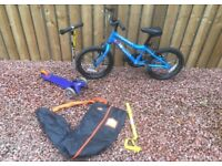 Kids Ridgeback MX16 Bike & Micro Mini Scooter With Accessorises