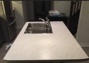 Laminate Island Counter with Sink