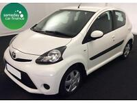 £124.39 PER MONTH WHITE 2013 TOYOTA AYGO 1.0 ICE 5 DOOR PETROL MANUAL