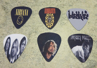 One set of 6 Rock band Single Sided Picture Guitar Picks ()