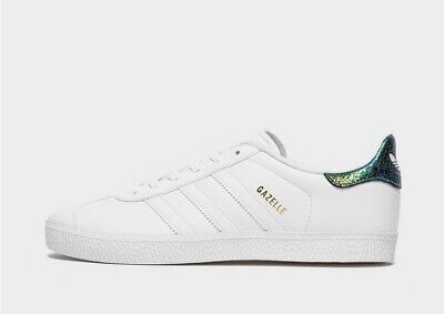 BRAND NEW IN BOX - ADIDAS GAZELLE SHOES TRAINERS WHITE LEATHER -...