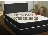 Black double bed sets with new 10'' mattress