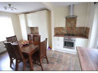 barker and stone house solid wood table and 6 matching chairs