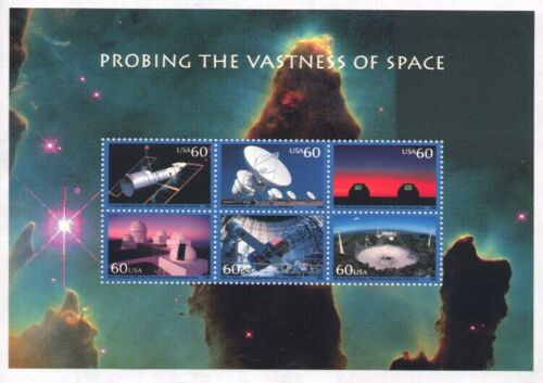 3409 PROBING THE VASTNESS OF SPACE 60c MINT SUPERB-NH SHEET
