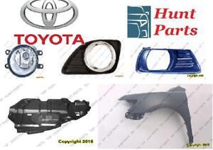 Toyota Camry 2007 2008 2009 2010 2011 Engine Splash Shield Fender Liner Inner Fog Lamp Light Bezel Cover Ignition Coil