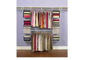 2 Rubbermaid Closet Systems