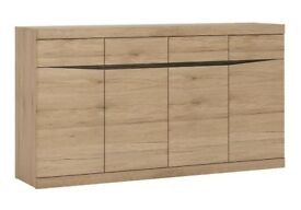 Oak Sideboard - 4 doors, excellent condition - collection only