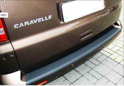 VW T5 TRANSPORTER REAR BUMPER PROTECTOR BLACK CARAVELLE VOLKSWAGEN STRIP GUARD