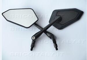 2 specchietti specchi specchio moto m10 dx nero carbon - Specchi moto omologati ...