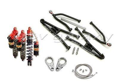 Roll Design Long Travel Arms + Elka Legacy Front Rear Shocks YFZ450R YFZ 450R