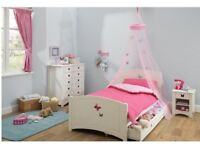 Butterfly Single Wooden Bed Frame with Drawer Storage- £200