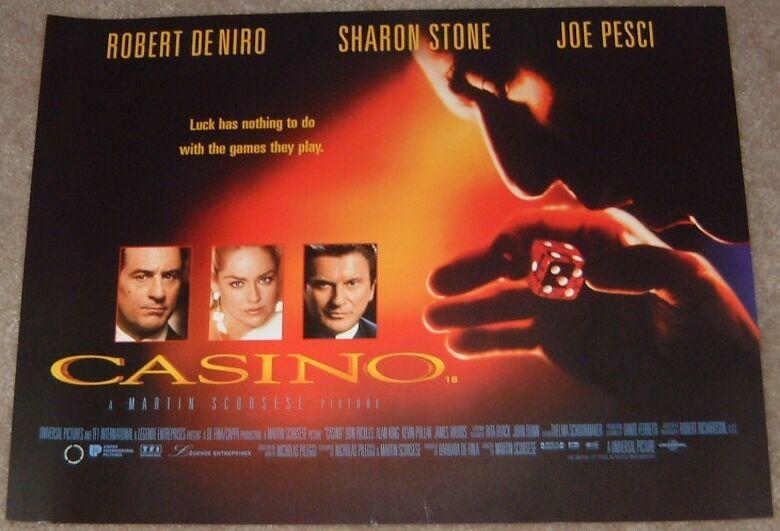 Casino movie poster print - Robert De Niro, Sharon Stone, Martin Scorsese