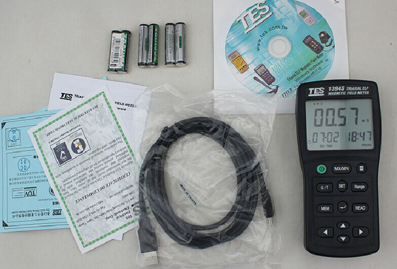 3 Axis EMF ElectroMagnetic Field Tester Tesla Gauss Meter 30-2KHz Data Log USB