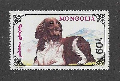 Dog Art Body Study Portrait Postage Stamp SMALL MUNSTERLANDER ENGLISH SETTER MNH