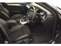 Black AUDI A4 SALOON 1.8 2.0 TDI Diesel SPORTS LINE FROM £62 PER WEEK!