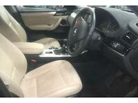 Black BMW X3 2.0TD 4X4 2014 xDrive20d SE FROM £77 PER WEEK