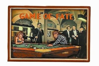 Ram R892 Wooden Game Of Fate Billiard Pub Sign 3D Art w/ FREE Shipping