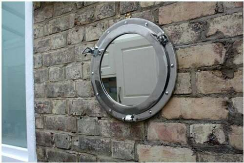Captain Mirror, Porthole Mirror, Nautical Ship Wall Mirror, Seaside Classic Vint