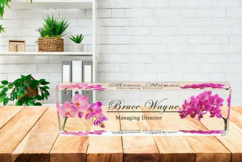 Acrylic Desk Personalized Name Plate for Custom Office Decor
