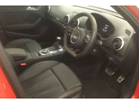 Red AUDI RS3 SPORTBACK 2.5 T FSI Petrol QUATTRO S-T FROM £150 PER WEEK!