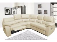 !UP TO 60% OFF !Top Quality Leather Bonded Recliner Sofa Suite 3 Colors ( 3+2Seat Sofa Set )
