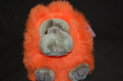 Puffkins Orange Omar Orangutan Retired NWT Plush Animal Stuffed Lovey Toy