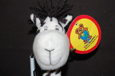 Toy Network Poseable Zebra Handmade 9 Plush Stuffed Animal Lovey
