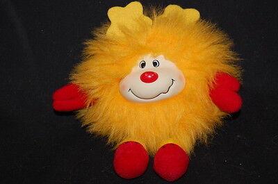 "Sprite Squeaky Rainbow Sound Yellow Red Vintage 1983 Hallmark Plush 6"" Lovey Toy"