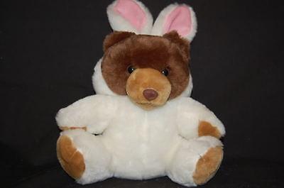 Braun Teddybär Weiß Hase Ohren Kostüm 13 Plüsch Stofftier Ostern Spielzeug - Braun Hasenohren Kostüm