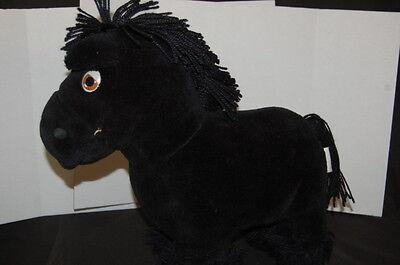 "Cabbage Patch Kids Black Horse Pony 1984 16"" Vintage Plush Stuffed Animal"
