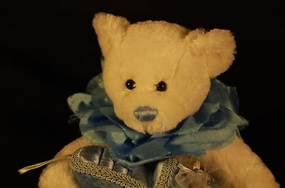 White Teddy Bear Ring Bearer Blue Nose Shoe Dan Dee Plush 9