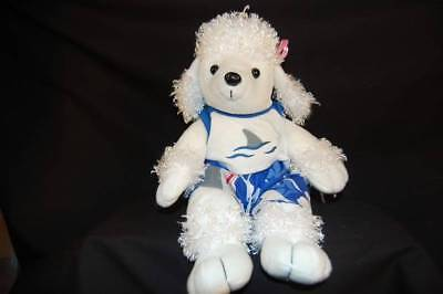 White Poodle Jaws Beach Outfit Pink Bows Animaland Plush 16