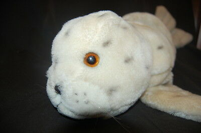 "Sea Lion Seal Cream Black Spotted Vintage Kamar Plush 29"" Lovey Toy Korea"