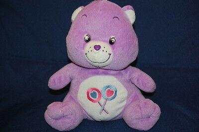 Lollipop Care Bear Lila Weiß Rosa Herz Nase Plüsch 25.4cm Lovey Spielzeug