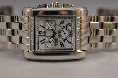 $149.99 - New Big Mens Giantto Swiss Quartz Chronograph Steel Bracelet Luxury Watch