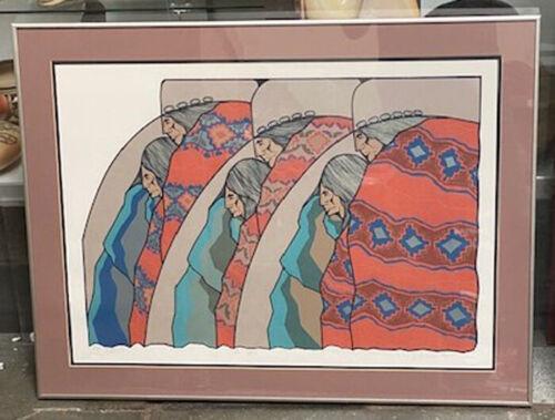 "Armado Pena framed lithograph ""Los Geis""; 20"" x 28"" Edition 40/65; Signed"
