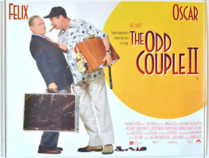 THE ODD COUPLE II (1998) Cinema Quad Movie Poster - Jack Lemmon, Walter Matthau