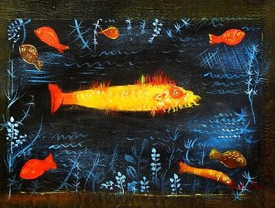 Paul Klee - Der Goldfisch a91573 30x40cm handgemaltes Ölgemälde