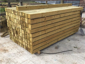 """🌲Pressure Treated Wooden/Timber Posts •New• 4""""X 4""""X 2.4M/3M🌲"""