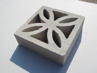26 brand new decorative grey screenwall leaf blocks- 290 x290 x 90mm
