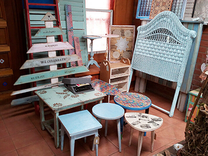 eco trendy shabby chic, frenchy, pallette wood, vintage, furniture & decor home shop central Howick