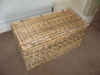 Woven Rush Blanket Box.