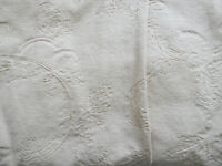 Laura Ashley fabric - rich cream, heavy weight, embossed pattern.