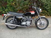 1973 Triumph T150V Trident, in very good condition.
