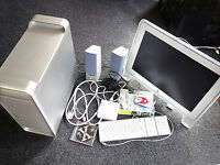 APPLE MAC G5 TOWER / CINEMA DISPLAY & ADAPTER / KEYBOARD / SPEAKERS / MOUSE / CABLES etc