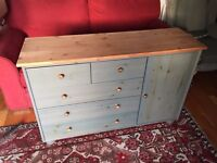 Stylish sideboard with pine top