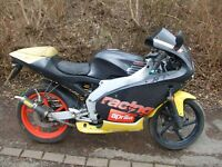 2000 Aprilia RS50 for spares/repair. Running engine, Arrow exhaust.