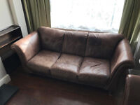 Two Leather Sofas For Sale - Two & Three Seater