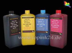 4x 1L Nachfüll Pigment Tinte Ink UV für Canon Maxify MB2050 MB2350 MB5050 MB5350